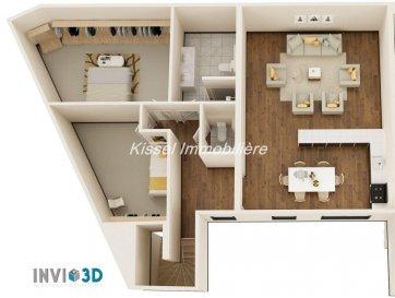 Alexandre Kissel et Kissel Immobilière vous propose à la vente à Syren<br><br>Un appartement neuf de ± 111.73 m² avec 2 chambres.<br>Remise des clés prévue Fin 2020<br><br>Il se compose comme suit :<br>(l\'agencement intérieur peut encore être modifié)<br><br>Composé comme suit :<br> <br>- Hall d\'entrée 9.5 m² et vestiaire<br>- Séjour et Cuisine ouverte 43 m²<br>- Terrasse de 20 m²<br>- WC séparé<br>- Chambre 1 de 18 m²<br>- Chambre 2 de 14 m² <br>- Salle de bain/douche et WC de 8 m²<br>- Débarras / Buanderie<br><br>Au sous-sol<br><br>- 2 emplacements de parking<br>- 1 Cave<br><br>Prix avec TVA à 17% - \' 729.000<br>Prix avec TVA à 3% - \' 679.000 (après acceptation de l\'Administration de l\'enregistrement)<br><br>L\'agence KISSEL Immobilière vous propose des objets sélectionnés, pour répondre à la demande de notre clientèle.<br>Estimation gratuite de votre bien et cela sans engagement.<br><br>Contacter Mr Kissel Alexandre 27621235<br><br><br />Ref agence :4680054