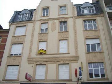 Quartier du Sablon à Metz, rue du XXème Corps Américain, Appartement deux pièces au 1er étage de 50 m2 comprenant un séjour, une chambre, une salle d'eau,WC. Chauffage individuel au gaz. Disponible de suite.