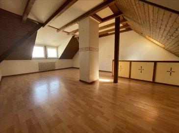 BRUNSTATT, Venez découvrir cette Maison de Ville d\'une superficie de 90m² au sol (78 m² habitable) sur 3 Niveaux, située en plein coeur de Brunstatt et composée de :   - Au Rez de Chaussée,   * une Entrée, * une Cuisine Equipée et une Salle à Manger de 17m²,  * une Buanderie.  - Au 1er étage,  * 1 Chambre de 10m²,  * 1 Chambre d\'enfant,  * 1 Salle de Bain.  - Au second et dernier étage,   * 1 Pièce de Vie ouverte de 26m².  Le Chauffage est au gaz individuel.   Maison sans extérieurs ni garage.  Commerces, Bus, Ecoles à proximité.  Location sous conditions de revenus (3 fois le montant du Loyer),  Maison sous Garantie de Loyers Impayés, nous demanderons un Dossier de Candidature avant toute visite.