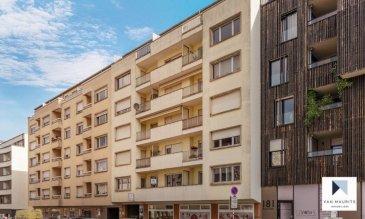 Situé dans le quartier de Gasperich, à proximité directe du quartier de la Gare de Luxembourg et de son centre historique, cet appartement de 2 chambres, doté de 2 balcons, entouré de tout transport et tout service, est situé au premier étage d'un immeuble en copropriété entretenue et conviviale.  D'une surface habitable nette de ± 100m², l'appartement se compose comme suit:  Un spacieux hall de ± 14 m² vous conduit à un espace de vie composé d'un séjour de ± 31m², d'une cuisine équipée de ± 8 m² (four, lave-vaisselle, plaques de cuisson, frigo, etc), d'espaces de stockage ainsi que de deux balcons, avant et arrière, de respectivement ± 2 m² et ± 3 m² .  L'appartement comporte 2 grandes chambres de ± 19 m² et ± 17 m², avec du parquet au sol, accompagnées d'une salle de douche équipée (lavabo, baignoire, WC, raccords machine à laver, sèche-linge) ainsi que d'un WC séparé.  L'offre se complète par une pratique cave au sous-sol ainsi que d'un garage.  Détails complémentaires:  Bâtiment de copropriété en très bon état Parquet dans les chambres Chaudière au Mazout avec chauffe-eau relié (et vanne thermostat sur les radiateurs). Double vitrage, châssis PVC, Autoroutes / bus / train/ aéroport à proximité; Situation recherchée, quartier résidentiel agréable ; Proche de toute commodité et tout service.