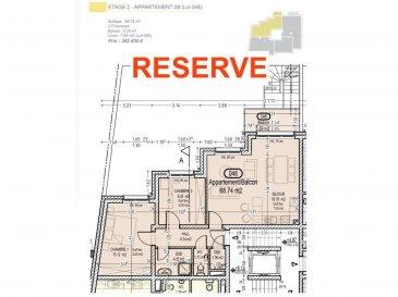 Votre agence IMMOLO RENA de Pétange vous propose dans une résidence contemporaine en future construction de 13 unités sur 4 niveaux située à Rodange, 45 chemin de Brouck 1 appartement de 68.74 m2 au DEUXIEME ETAGE avec ascenseur décomposé de la façon suivante:  - Hall d'entrée de 6.34 m2 - Salle de bain de 4.25 m2  - Un WC sépare de 1,71 m2  - Un débarras de 1,36 m2 - Cuisine ouverte et salon de 30,35 m2 donnant accès au balcon de 5.29 m2. - Une première chambre de 15,12 m2, une deuxième chambre de 9,25 m2 - Une cave privative et un emplacement pour lave-linge et sèche-linge au sous sol. Possibilité d'acquérir un emplacement intérieur (25.000 €) ou un garage fermé intérieur (35.000€).  Cette résidence de performance énergétique AB construite selon les règles de l'art associe une qualité de haut standing à une construction traditionnelle luxembourgeoise, châssis en PVC triple vitrage, ventilation double flux, chauffage au sol, video - parlophone, système domotique, etc... Avec des pièces de vie aux beaux volumes et lumineuses grâce à de belles baies vitrées.  Ces biens constituent entres autre de par leur situation, un excellent investissement. Le prix comprend les garanties biennales et décennales et une TVA à 3%. Livraison prévue septembre 2021.  Pour tout contact: Joanna RICKAL +352 621 36 56 40 Vitor Pires: +352 691 761 110   L'agence ImmoLorena est à votre disposition pour toutes vos recherches ainsi que pour vos transactions LOCATIONS ET VENTES au Luxembourg, en France et en Belgique. Nous sommes également ouverts les samedis de 10h à 19h sans interruption. Demander plus d'informations