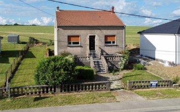 NOUS VENDONS au lieu-dit Ste MARIE, commune de Château-Rouge (Moselle),  à proximité immédiate de BOUZONVILLE et de la frontière allemande ;  Une maison individuelle établie en rez-de-chaussée sur rez-de-jardin et étage, au centre d\'un terrain plat de 6a35.  Dans sa configuration actuelle, qu\'il sera aisé d\'améliorer de manière significative, elle offre une surface totale habitable de 94 m2 comprenant notamment :  Une pièce à vivre et séjour Une kitchenette, Un salon Deux vastes chambres de plus de 18 m2.  Un escalier existant mène à l\'étage sur dalle où il est possible d\'aménager deux voire trois chambres et sanitaires sur près de 50 m2 disponibles en Loi Carrez. Les ouvertures de fenêtres sont déjà existantes sur chaque pignon.  Cette redistribution permettra de libérer un espace de salon et séjour de près de 40 m2 en rez-de-chaussée ainsi qu\'une cuisine et pièce à vivre d\'une surface équivalente.  *** Double vitrage sur châssis aluminium sur la façade avant *** Chauffage central au fuel domestique.  LE BIEN EST IMMEDIATEMENT DISPONIBLE.   CONTACT :  Gérard STOULIG – Agent commercial au : 06 03 40 33 55 ou l\'agence au : 03 87 36 12 24.