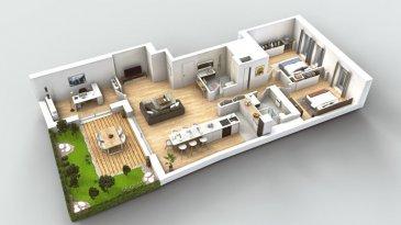 ** AVEC JARDIN PRIVATIF ** A vendre, dans un prestigieux immeuble sis au 36, rue Adolphe Fischer, nouvel appartement traversant à 3 chambres à coucher (36-0) de 108,39 m2 de surface utile, au rez-de-chaussé surélevé, avec terrasse et jardin privatif.  Visite virtuelle sur : https://widgets.habiteo.com/visite-virtuelle'id=2pkHrHbxJlL6563JGSpCCE&key=5btIuTFFcwtN9qkXINwsFj  L'immeuble se trouve dans le Secteur Protégé de la Ville de Luxembourg du Plateau Bourbon. Sa rénovation devra d'un côté respecter les aspects et détails architecturaux  de l'époque pour conserver et valoriser tout son charme historique (façade, escalier interne en bois, carrelage d'époque au rez-de-chaussé par exemple); de l'autre  intégrera de façon harmonieuse des éléments modernes (extension de  l'immeuble au rez-de-chaussé à l'arrière avec grandes baies vitrées, nouvelles dalles avec chauffage au sol, intégration d'un ascenseur, etc.).  A partir de l'entrée de l'appartement 36-0 vous accèderez directement au lumineux living de 33,87 m2, doté d'une grande baie vitré donnant sur la terrasse de 13,90 m2 et le jardin privatif de 18 m2. En retrait vous trouverez une cuisine ouverte de 10 m2, avec la possibilité  de l'équiper avec un îlot central.  Dans le hall qui sépare la pièce à vitre de la zone nuit vous disposerez de deux salles de douche (douche, lavabo et WC) ainsi qu'une niche pour un placard encastré.   L'appartement est doté de deux grandes chambres à coucher, respectivement de 15,41m2 et  14,50 m2 et d'une troisième chambre de 10,50 m2 côté jardin pouvant servir de troisième chambre à coucher, bureau ou chambre d'amis.  Au sous-sol vous disposerez d'un grande cave privative de 14,83 m2 dans laquelle vous pourrez installer votre machine à laver/séchoir, ainsi que d'un espace vélo et poussette en commun.  Le prix affiché s'entend avec le taux de TVA super-réduit de 3% (en cas d'affectation du bien à des fins d'habitation principale) sous réserve d'acceptation du dossier par l'Administration