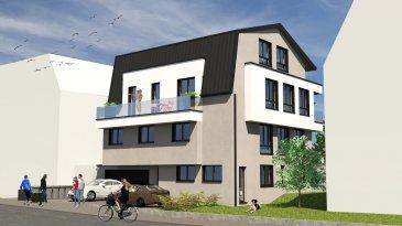 En vente nouvelle résidence disposant de 3 appartements lumineux et un penthouse.  Vous pouvez dès maintenant réserver votre appartement de rêve dans cette résidence !  Résidence :  - Appartement au Rez-de-Jardin (1 chambres) de 49.57 m2 avec grand jardin/terrasse de +/-50m2   Vente en futur état d'achèvement (VEFA)  Actuellement, il est encore possible de changer les dispositions  des intérieurs des appartements, c'est-à-dire tailles des différents pièces ( living/ chambres/SBD/SDD) etc !!!  Les appartements/penthouses seront livrés 'clés en main'.   De nombreuses options et possibilités de personnalisation sont offertes pour chaque logement afin de permettre à chacun de définir l'ambiance, les couleurs ou encore les matériaux qui correspondent à ses envies.   L'ensemble de ces paramètres sont définis dans le cahier des charges de la construction, selon le type de logement envisagé.   Chaque lot dispose d'au moins une terrasse, d'un balcon et/ou d'un jardin privatif.  Spécifiés techniques :  - Ascenseur (privatif)  - Ventilation contrôlée double flux  - Chauffage au  sol  - Châssis PVC Triple vitrage  - Stores électriques Raffstore  - Finitions haut de gamme   La résidence sera érigée près du Kräizbierg à Dudelange, à deux pas du centre-ville/école primaire/secondaire/centres commerciaux/parc Le'h et avec bon accès aux grands axes de circulation.  Acheter du neuf c'est avoir la garantie et la tranquillité pour des années.  Acheter dans cette résidence vous donne la possibilité d'intégrer vos idées/préférences dans votre futur logement !  Acheter directement au promoteur, c'est avoir des informations claires et la garantie du meilleur prix !   Les prix sont actuellement sur demande !  Trouvez tous les informations pratiques sur le site de la commune de Dudelange :  www.dudelange.lu (Dudelange, on dirait le Sud! )  Nous sommes, en permanence, à la recherche de nouveaux biens à vendre (terrains, maisons, appartements).   Schwätze Lëtzebuergesch: All Informatiounen ken