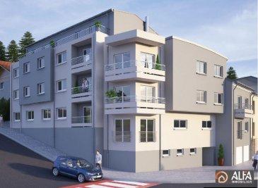 ALFA IMMOBILIER vous présente la nouvelle résidence OPERA qui est située à Rodange à l\'angle de la rue du Clopp et de la rue des Jardins. <br><br>L\'appartement 034 a une superficie de 49.05 m2 de vente. Il est situé au rez-de-chaussée et se compose : <br><br>- Hall d\'accueil <br>- Cuisine ouverte sur salon/ salle à manger<br>- 1 Chambre à coucher <br>- Salle de douche<br>- Cave<br>- Buanderie commune.<br><br>Possibilité d\'acquérir un emplacement intérieur pour 28\'000€ ou un Parklift pour le prix de 27\'000€.<br>Pour plus d\'informations n\'hésitez pas à nous contacter au 691 656 588 ou 691 112 115.<br />Ref agence :3537480