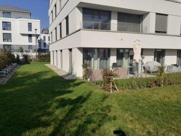 L'agence immobilière SPACEPLUS propose à la location un appartement de 80 m2 à louer dans la Résidence MARIE. 7, rue Aline Mayrisch de Saint-Hubert, L-8096 Bertrange.  +++++ Disponible à partir de 15 décembre 2021 ++++++++  +++++++ COLOCATION NON Acceptée +++++++++  L'appartement est sis au rez-de-chaussée et il est composé comme suit : hall d'entrée, WC séparé, une cuisine équipée et semi-ouverte, un living de 30 m2 sortie sur la terrasse, 2 chambres à coucher de 12m2 chaque une, une salle de bains (baignoire, cabine de douche et double lavabo).  Possibilité de louer partiellement meublé.  Plus de photos sur notre site www.spaceplus.lu  Sous-sol : une place de parking, emplacement dans la buanderie commune pour un lave-linges et un sèche-linge, une cave privée de 8m2.  La résidence MARIE est située dans une rue très calme de la commune de Bertrange, qui est l'une des communes les plus recherchées, notamment pour son excellente infrastructure. Ecoles maternelles et primaires, centre culturel, restaurants, centres commerciaux