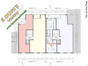 Votre agence IMMO LORENA de Pétange vous propose dans une résidence contemporaine en future construction de 8 unités sur 3 niveaux située à Pétange, 110, route de Luxembourg, appartement de 102,66 m2 décomposé de la façon suivante:  DEUXIEME ETAGE: - Un hall d'entrée - Une Cuisine de 15,92 - Un salon de 18,36 m2 donnant accès à la terrasse de 6,28 m2. - Un WC séparé de 1,39 m2  TROISIEME ETAGE: - Un hall de nuit - Une chambre de 13,79 m2 - Deuxième chambre de 17,52 m2  - Un WC séparé  - Salle de douche  - Une cave privative, un emplacement pour lave-linge et sèche-linge au sous sol. Possibilité d'acquérir un emplacement intérieur (28.840 €)TTC 3%  Cette résidence de performance énergétique AA construite selon les règles de l'art associe une qualité de haut standing à une construction traditionnelle luxembourgeoise, châssis en PVC triple vitrage, ventilation double flux, chauffage au sol, video - parlophone, etc... Avec des pièces de vie aux beaux volumes et lumineuses grâce à de belles baies vitrées.  Ces biens constituent entres autre de par leur situation, un excellent investissement. Le prix comprend les garanties biennales et décennales et une TVA à 3%. Livraison prévue juin 2022.  1,5% du prix de vente à la charge de la partie venderesse + 17% TVA Pas de frais pour le futur acquéreur   VOIR ABSOLUMENT!  Pour tout contact: Joanna RICKAL: 621 36 56 40  Vitor Pires: 691 761 110  Kevin Dos Santos: 691 318 013  L'agence Immo Lorena est à votre disposition pour toutes vos recherches ainsi que pour vos transactions LOCATIONS ET VENTES au Luxembourg, en France et en Belgique. Nous sommes également ouverts les samedis de 10h à 19h sans interruption.