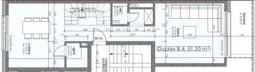 Votre agence IMMO LORENA de Pétange vous propose dans une résidence contemporaine en future construction de 8 unités sur 3 niveaux située à Pétange, 110, route de Luxembourg, appartement de 102,66 m2 décomposé de la façon suivante:  DEUXIEME ETAGE: - Un hall d'entrée - Une Cuisine de 15,92 - Un salon de 18,36 m2 donnant accès à la terrasse de 6,28 m2. - Un WC séparé de 1,39 m2  TROISIEME ETAGE: - Un hall de nuit - Une chambre de 13,79 m2 - Deuxième chambre de 17,52 m2  - Un WC séparé  - Salle de douche  - Une cave privative, un emplacement pour lave-linge et sèche-linge au sous sol. Possibilité d'acquérir un emplacement intérieur (28.840 €)TTC 3%  Cette résidence de performance énergétique AA construite selon les règles de l'art associe une qualité de haut standing à une construction traditionnelle luxembourgeoise, châssis en PVC triple vitrage, ventilation double flux, chauffage au sol, video - parlophone, etc... Avec des pièces de vie aux beaux volumes et lumineuses grâce à de belles baies vitrées.  Ces biens constituent entres autre de par leur situation, un excellent investissement. Le prix comprend les garanties biennales et décennales et une TVA à 3%. Livraison prévue juin 2022.  1,5% du prix de vente à la charge de la partie venderesse + 17% TVA Pas de frais pour le futur acquéreur   VOIR ABSOLUMENT!  Pour tout contact: Joanna RICKAL: 621 36 56 40 (FR) Vitor Pires: 691 761 110 (PT, IT, UK, FR)  L'agence Immo Lorena est à votre disposition pour toutes vos recherches ainsi que pour vos transactions LOCATIONS ET VENTES au Luxembourg, en France et en Belgique. Nous sommes également ouverts les samedis de 10h à 19h sans interruption.