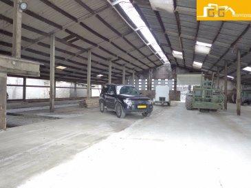 ---LOUE--- ---RENTED---  Grand dépôt de stockage en rénovation avec électricité, eau et WC extérieur à Alzingen.  L'objet est divisible de 100 à 600 m2 pour un loyer de 9 €/m2 + charges.  Accès facile