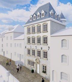 Immomod S.A. a le plaisir de vous proposer c'est magnifique duplex à Luxembourg-Grund, avec une vue exceptionnel sur la ville et les casemates.  Le duplex se trouve au dernier étage dans une résidence à 4 unités.  Il est accessible par un ascenseur et sera faite de HAUT-STANDING.  Une terrasse avec la vue exceptionnel de 400 m² et un jardin de 700 m² complète cet appartement.  Livraison : fin 2018  Prix affiché avec la TVA de 3%.  N'hésitez pas à nous contacter pour les détails supplémentaires au 691 92 54 85 ou 27 99 09 53.