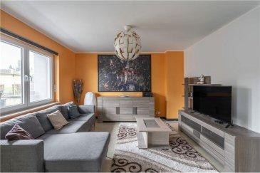 Veuillez contacter Mathieu Bossennec pour de plus amples informations : - T :+352 661 521 730 - E : mathieu.bossennec@remax.lu  REMAX, Spécialiste de l'immobilier à Differdange, vous propose, en exclusivité, ce magnifique appartement rénové de 78 m² de surface pondérée au rez-de-chaussée, 2 chambres, garage privatif, balcon et petit espace jardin, à la vente, dans la commune de Differdange (Oberkorn).  Il se compose comme suit :  - Un hall d'entrée spacieux et accueillant. - Une cuisine ouverte donnant sur une salle à manger et le salon spacieux. - Une salle de douche. - 2 belles chambres. - Une terrasse, donnant accès a l'espace jardin. - Un grand garage privatif. - Un emplacement privatif devant le garage. - Une cave. - Un grenier.  Il existe également un parc juste derrière le jardin (vu sur photos).  Les charges sont de 120?€ par mois, le chauffage est au gaz.  Disponibilité : À partir du 12 juillet 2021.  Frais d'agence RE/MAX : 3 % du prix de vente + TVA à charge de la partie venderesse Toute offre sera soumise à l'acceptation expresse des vendeurs.