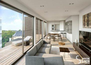 Lot B10 - Surface utile 139,65 m2 -Appartement-balcon- terrasse, de 88,62 m2 habitable, 44.19 m2 de terrasse, au cinquième étage avec ascenseur dans la Résidence OPUS à Differdange.<br>il se compose comme suit:<br>Hall d\'entrée, toilette séparée, séjour, salle à manger, cuisine ouverte, balcon, terrasse, débarras (Cellier), hall de nuit, 2 chambres à  coucher (14,93 et 13,72 m2), salle de bain.<br>Au sous-sol un emplacement intérieur et une cave privative de 6,84 m2.<br>Possibilité d\'acquérir en option une cuisine équipée.<br>Pour de plus amples renseignements contactez Christine SIMON Tel: 621 189 059 ou 26 53 00 30 ou par mail: cs@christinesimon.lu.<br />Ref agence :B10- Bloc B - Penthouse