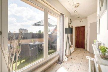 Veuillez contacter Mathieu Bossennec pour de plus amples informations : - T : +352 661 521 730 - E : mathieu.bossennec@remax.lu  REMAX, Spécialiste de l'immobilier, vous propose, en exclusivité, ce bel appartement à vendre dans la commune de Differdange.  En plein centre-ville, toutes les commodités se trouvent à quelques mètres à pied, dans une résidence  calme, l'appartement situé au 5ème étage avec ascenseur, se compose comme suit :   - Un couloir accueillant  - Un WC séparé  - Une chambre  - Une salle de bain   - Une terrasse, sans vis-à-vis, avec vue sur Differdange.  - Une cuisine équipée ouverte sur la salle à manger.  - Un espace salon détente.  Il n'y a pas de travaux prévus sur la copropriété.   Les charges s'élèvent à environ 180?€.  L'appartement dispose également d'une cave, cependant, il ne dispose pas d'emplacement, ni de garage.  Une visite virtuelle ainsi que les plans sont disponibles sur demande.  Disponible rapidement.  Frais d'agence RE/MAX : 3 % du prix de vente + TVA à charge de la partie venderesse