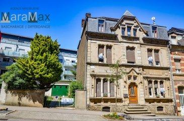 L'agence immobilière MaraMax s.àr.l a l'honneur de vous proposer cette magnifique et unique maison de maître, entourée d'un grand jardin, avec un terrain d'une contenance de +/- 5a 09ca.  La maison a une surface habitable de +/- 277.61 m2, une surface totale de +/- 466.91 m2 et se compose comme suit:  Rez-de-chaussée: - hall d'entrée, - salle à manger accès terrasse et jardin, - living, - 2 chambres à coucher, - salle de douche avec WC, lavabo et ventilation, - WC séapré, - grand garage pour 2 voitures du côté gauche de la maison.  Palier: - WC séparé.  1er étage: - hall de nuit, - cuisine équipée indépendante, - living/salle à manger, - 3 chambres à coucher, - salle de bains avec lavabo.  2eme étage: - salle de séjour, - 3 chambres à coucher, - bureau  Au 3eme étage vous y trouverez un spacieux grenier pas isolé de +/- 96.54 m2. Au sous-sol s'ajoutent 3 caves ainsi que la chaufferie avec une chaudière à gaz Viessmann de l'année 2010.  Pour plus d'informations par rapport à cette belle maison unique, n'hésitez pas à nous contacter.