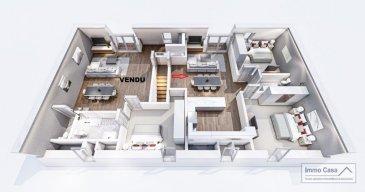 Nouvelle résidence à 4 unités à Nospelt ImmoCasa vous propose en exclusivité une nouvelle résidence de 4 unités au centre de Nospelt (Prix affiché avec 3% de TVA)  La résidence comprend 4 appartements de 64.40 à 95m2. 2 Parkings intérieurs au prix de 25.000eur. (En supplément) 2 Parkings intérieurs au prix de 35.000eur. (En supplément) 4 parkings extérieurs au prix de 15.000eur. (En supplément) 4 Caves inclues dans le prix de vente. (Prix affiché avec 3% de TVA)  Ici vous trouvez l'appartement au Deuxième étage côté droit de 77,98m2 habitables. Vous disposez d'un hall d'entrée, living lumineux salle de bains/douche, cuisine ouverte non fournie. Balcon de 2m2 et chambres à coucher de bonnes dimensions. Pas d'ascenseur.  Ce projet est une Rénovation/Modification. Nouvelle électricité. Nouvelle chauffage. Nouvelle Toiture. Nouvelles dalles, etc. Matériaux de haut qualité au choix pour les finissions. Pour plus d'informations et pour les plans, n'hésitez pas à nous contacter.  N'hésitez pas à nous contacter pour vendre votre bien. Nos estimations sont gratuites.  Nous recherchons en permanence pour la vente et pour la location des appartements, maisons, terrains à bâtir et projets autorisés pour clientèle existante. Achat éventuel par notre société.  Ref agence : 1906583