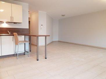 A louer à Luxembourg Muhlenbach, un studio non-meublé au 1er étage dans une résidence avec ascenseur comprenant un hall d'entrée, une cuisine équipée ouverte, un séjour, une salle de douche avec toilette, un balcon, une cave et une buanderie.  Libre de suite. Caution 3600 Eur.
