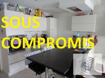 ***** SOUS COMPROMIS *****  Appartement avec une surface habitable de 70 m2 situé au 1ier étage d'une résidence de 2015 à Differdange, composé comme suit:  A l'étage : Hall d'entrée avec WC séparé, vaste et lumineux séjour avec une baie vitrée donnant accès au balcon de 10,30 m2, cuisine équipée ouverte, une salle de bain avec douche italienne, lavabo et WC, deux chambres à coucher (13,35 m2 et 12,10 m2).  Le bien est complété au sous-sol par une grande cave (9,50 m2), un emplacement de parking intérieur et une buanderie commune.  Equipements : système domotique, chauffage urbain.  La résidence se trouve dans le nouveau lotissement ARBORIA avec le centre commercial OpKorn, bonne connexion au réseau des transports publics. Accès facile au distributeur d'autoroute. Crèches, écoles et commerces à proximité.  Pour tout renseignement supplémentaire ou pour convenir un rendez-vous pour une visite, veuillez nous contacter par téléphone au (+352) 691 400 705 ou 691 400 706 ou par mail : info@17b.lu