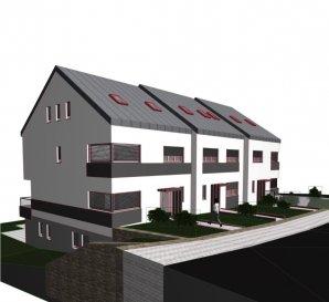 Nouveau projet pour 3 maisons à Welscheid. Le projet de maison, on peut aussi changer en 2 appartements