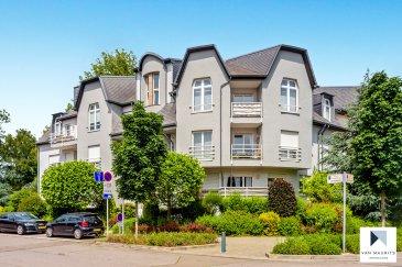 *** SOUS COMPROMIS***SOUS COMPROMIS***SOUS COMPROMIS*** Situé à Esch-sur-Alzette, la résidence de 3 étages avec ascenseur est dans une rue calme et sans issue. L'appartement, en très bon état, se trouve au 1er étage et comprend : Un séjour lumineux +/- 39 m² avec balcon +/- 2 m², une cuisine séparée +/- 15 m², un couloir +/- 12 m² desservant deux chambres de +/- 11 et 16 m² avec terrasse +/- 6 m² (avec très belle vue sur le parc boisé), une salle de douche +/- 6 m² avec douche, vasque encastrée, wc et bidet, un wc séparé +/- 2 m² et enfin, un vestiaire +/- 2 m2. Au sous-sol se trouve une buanderie commune de +/- 30 m², et le garage commun. Un grenier +/- 9 m², une pièce commune de +/- 21 m² pour étendre et faire sécher le linge, et un parking extérieur complètent l'offre. L'appartement est actuellement en location et sera disponible en janvier 2020.  Généralités :  Parquet dans les chambres, carrelage dans le reste de l'appartement ; Parlophone ; Volets électriques ; Porte d'entrée sécurisée – 4 points ; Chauffage au gaz ; Classe énergétique: «F-G» ; Charges:270€ / mois (ne sont pas inclus: électricité, abonnement tv-internet) Situation très calme; vue sur le parc/bois autour ; Situation idéale: écoles, commerces et transport en commun à proximité.  Agent responsable : Gaëtan Lupinacci Email : gaetan@vanmaurits.lu GSM : (+352) 671-157-120