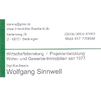 Wolfgang Sinnwell- Dipl.Kfm. - Anbieter